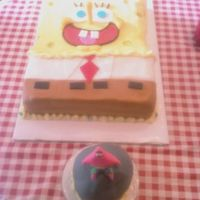 Spongebob And Patrick On His Rock Smash Cake