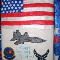 Air Force Birthday Cake I am a beginner in cake decorating. I used marshmallow fondant to cover the cake. I used a sharp blade to cut the plane out of fondant, I...