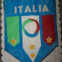 Italia Cake  This was a grooms cake. It was a carrot cake with cream cheese icing. I used MMF for the decorations. The cake is actually a replica of the...