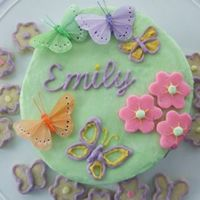 Emily's Cake I made this cake for my daughter who passed away while I was still carrying her at 33 weeks on Jan 16, 2008. All buttercream except for the...