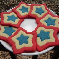 4Th Of July Star Cookies My these sugar cookies for the 4th of July. Used Americolor to color the red and blue portions of the dough, then used my nesting star...