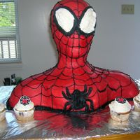3D Spiderman This is a common one on CC, I loved it and had been wanting to give it a try. It was my first paid cake and the customer loved it. It was...