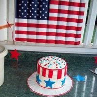 Uncle Sam Hat Cake I wanted to do something fantastic and new for the 4th and found some variations of this cake. I had never worked with layers before and...