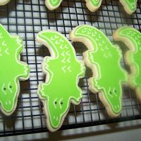 Alligator Cookies No fail sugar cookies with royal icing