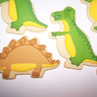 Dinosaur Cookies NFSC with Antonia's royal icing.