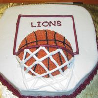 Basketball Cake   Cake for my nephew's birthday.