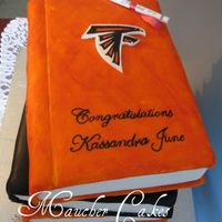 Pennsbury Hs Grad Books Choc and van. cake with RI.