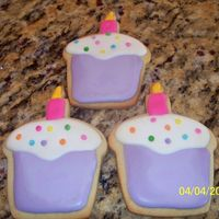 Cupcake Cookies Favors for the Cupcake 1st Birthday Party