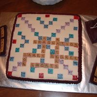 Master's Degree Graduation Cake My son is a scrabble nut. So when he graduated with his Master's Degree, his cake had to be a scrabble board.