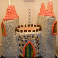 Castle Cake Entirely edible and homemade. The cake is three layers of yellow cake with butttercream, two layers of chocolate cake with ganache, and...