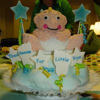 Thank Heaven For Little Boys   Made this for my cousin's baby shower, also made for my son's 1st birthday.