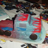 Optimus Prime   This was my first try at Optimus Prime for my son's 4th birthday!!!