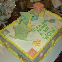 Baby Shower For Twins This cake was made for a very special young lady who was having twins (a girl and a boy). She had mentioned it didn't have to be the...