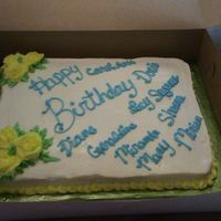 Church Birthday 1/2 White BC ..I did this cake for our monthly church birthdays. TFL