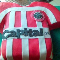Picture3.jpg Football shirt,English Sheffield United. Chocolate cake with lime mousse,coverd in MMF.