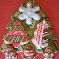 Cookies Sweet Christmas Gifts  I used metal cutters for the small cookies and I created a large pattern on heavy paper to cut out the large tree. After baking I let the...