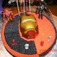 Birthday Cake For Sebasthian Birthday Num 5 BIRTHDAY CAKE OF IRON MAN FOR MY GRANDSON SEBASTHIAN BIRTHDAY NUM 5