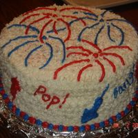 4Th Of July fireworks, rockets, checkerboard cake
