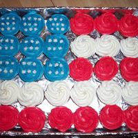 Flag Cupcakes Buttercream