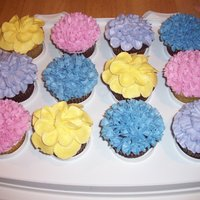 Flower Cupcakes Buttercream