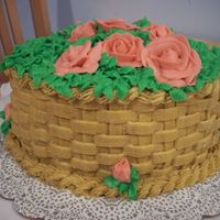 Flower Basket Buttercream - with butter - thats why my roses melted : (