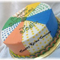 "Multicolor Birthday Cake 10"" triple chocolate fudge cake with vanilla butercream. Was told to just make it colorful-- this is what I came up with-- too tired..."