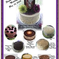 9 Cakes Various Flavors  I did a wedding where the bride and groom requested that I do 9 different flavored cakes (another baker made 3) They were whole wheat...