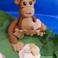 Jungle Fun - Monkey This is just 1 of 3 animals that I have freehand modelled for a jungle cake. I am really happy with it, he looks really cute so I named him...