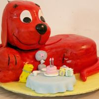 Clifford And Friends My son's 2nd birthday cake. This was a labour of love! It's Clifford the big red dog and hand molded figurines of his friends at...