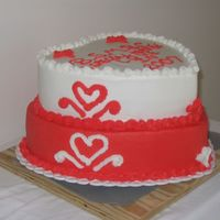 Church Valentine's Day Celebration This cake was for Beauty Spot Missionary Baptist Church. They had a Valentine's Day Banquet.