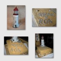 Lighthouse This is a bridal shower cake for a bride that loves light houses. She was engaged at a light housegumpaste lighthouse & rocks on top of...