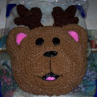 "Bear Cake With ""antlers"". I got the idea from another user here, so special thanks to Doofusmongerbeep :) I actually couldn't get the antlers to work out and my..."