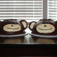 Double Trouble...2 Monkeys Two monkeys. Chocolate fudge icing.