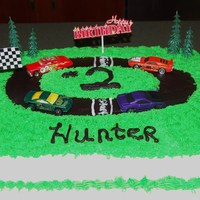 Hunters Birthday Cake I made this for a little boy who loves hot wheel cars. Thanks for looking