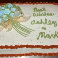 Ashley And Marks Cake   I made this for a bridal shower. Thanks for looking