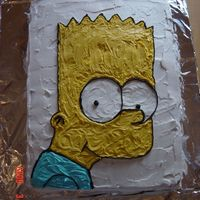 Bart my bart simpson cake for my sons tenth birthday
