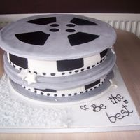 Movie Reel This cake was a real challenge - I thot it would be nice and easy, but I found it really difficult. I wanted to do Alamosweets'...