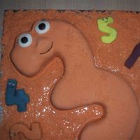 Numberjacks Cake My son is three tomorrow and he has been going on non-stop about this numberjacks cake (Numberjacks is his favourite TV program), I couldn...