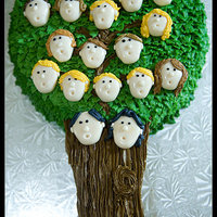 Family Tree  My family and I had a photo shoot this weekend... I thought this would be the perfect cake to celebrate it :) Buttercream trunk, branches...