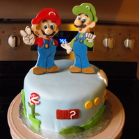 Mario And Luigi Nintendo Cake  Thanks SO much to SO many people who have done this cake before me. The inspiration on this site is endless, and I wish I could thank you...