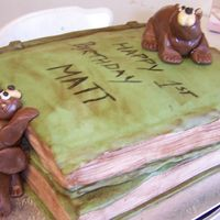 Bears And Books All RBC icing, birthday cake for my nephew 1st bday.