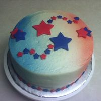 Stars Made for my mom's bday. She loves patriotic themes. Buttercream with fondant accents