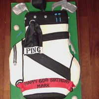 Golf Bag Iced in BC with fondant accents. Clubs are RCT under fondant and gumpaste.