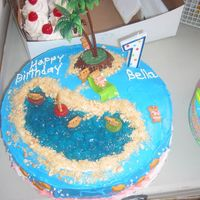 1St Birthday, Island Cake this was the 1st birthday cake for my daughter's luau themed birthday.