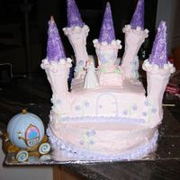 Bellas_2Nd_Birthday_08_055.jpg was inspired by the cover of the Wilton year book, first time making the castle for my daughter's 2nd birthday. I used buttercream for...