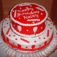 Haleys_Bday_Cake.jpg This little girl's favirite color is red, so I made her this cake with balloons and streamers. The streamers are fondant, and the rest...