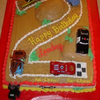 Cars I combined a few different idea's from here at CC for this cake. My youngest son turns two today (9/16) and this cake was so much fun...