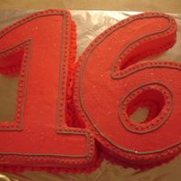 Sweet 16 My girlfriend wanted a 16 for her daughters birthday. I used a 1/4 sheet for each number.