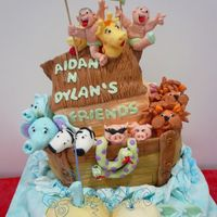 Noah'sark Specially designed for a pair of twin for their 1st birthday. All figirines are individually hand moulded.