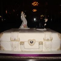 Luggage Wedding Cake Rich fruit cake covered in almond paste & fondant.